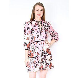 VERONICA BEARD Hawken Pink Floral Silk Blend Dress
